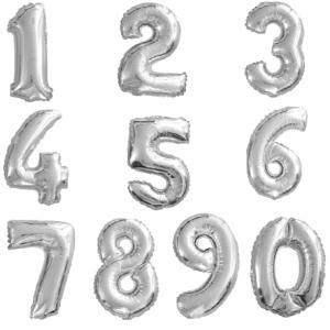 Ballons chiffre-lettre